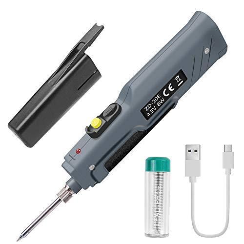 KKmoon 4.5V 8W batteriebetriebener Lötkolben mit USB-Ladekabel und kabellosen Ladelötkolben