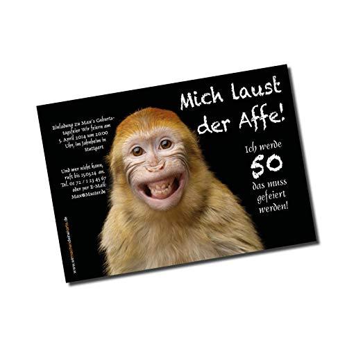 Uitnodigingskaart verjaardag aap (niet beschikbaar in het Nederlands)