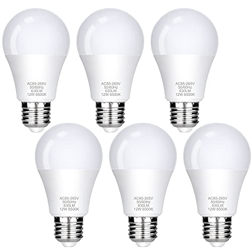 E27 LED Lampe, FAUETI Led Leuchtmittel 12W (ersetzt 85W), Warmweiß 3000K, AC85-265V, 1080LM, 220°Glühlampe Abstrahlwinkel, 6er-Pack [Energieklasse A+]