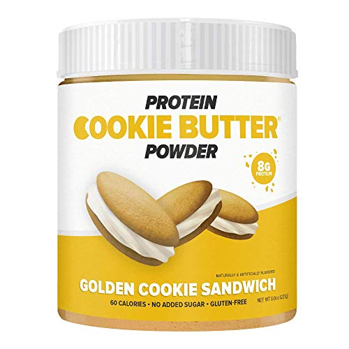 FDL - Keto Protein Powder Cookie Butter - Low Carb Food - Easy to Mix, Bake and Spread - 2g Net Carb - 8oz (Golden Cookie Sandwich)