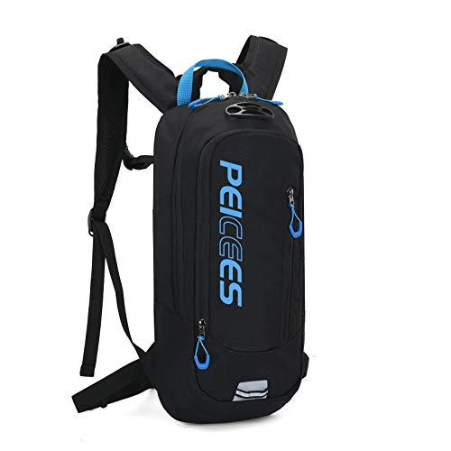 Peicees Hydration Pack Backpack Hiking Backpack with 2L Water Bladder Lightweight Running Water Backpack for Hiking Running Biking Cycling Camping(Water Bladder not Included)