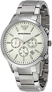 Emporio Armani Men's Silver Dial Stainless Steel Band Watch - AR2458