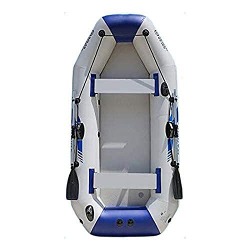 QSKL Kayak Inflable portátil, PVC superresistente, Resistente al Desgaste, anticorrosivo, Kayak Inflable con remos de Aluminio y Bomba de Aire de Alto Rendimiento,B