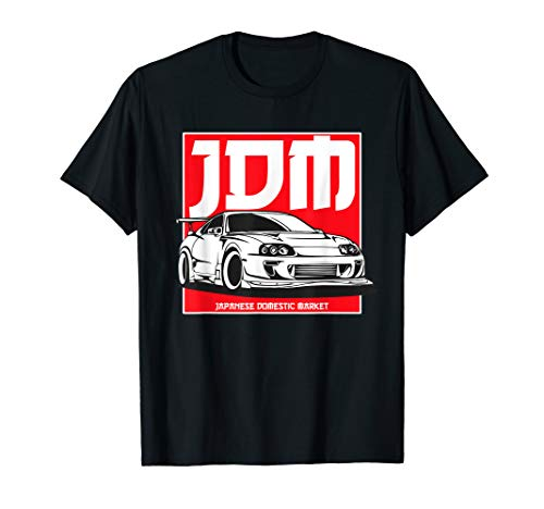 2JZ Legends Never Die, JDM Gaming Tuning Retro 90s Car Badge T-Shirt