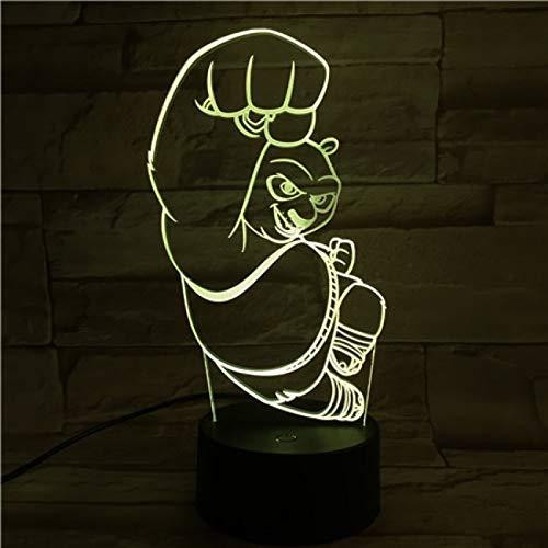 Cooles Baby Led Nachtlicht Kung Fu Panda Nachtlicht Kinderbett Zimmer betrieben Tisch Led Nachtlampe Nachttisch Kinder