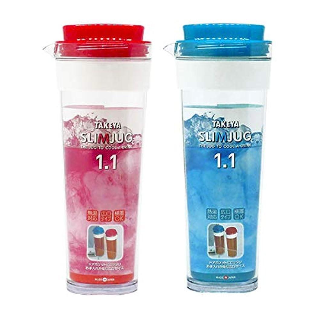 ネズミイタリアのやりすぎタケヤ化学工業 スリムジャグ2 1.1L アイスベリー?アイスブルー 各1本セット