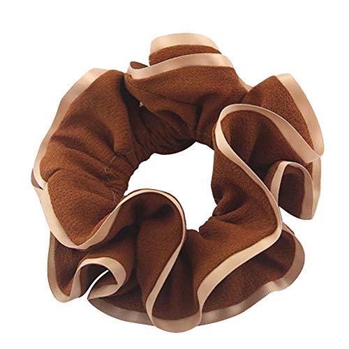 Coréens en mousseline de soie Bandeaux Cravates cheveux Cordes, Couleur caramel
