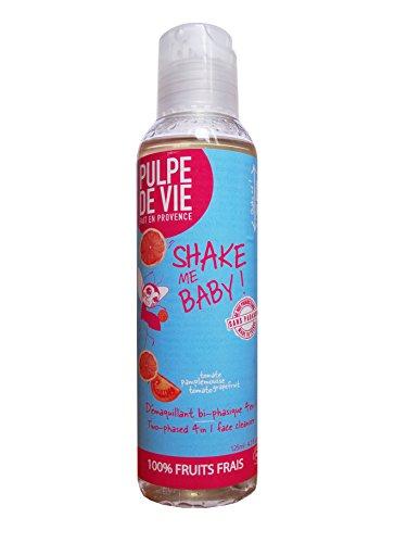 Pulpe de Vie Shake Me Baby Soin Visage Nettoyant et Démaquillant Bio Bi-phasique 125 ml