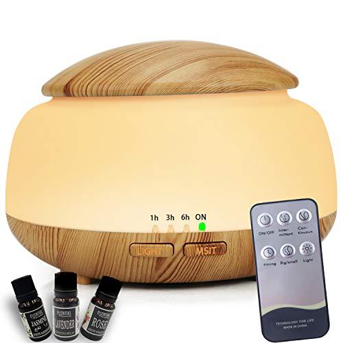 URUNIQ Hochwertiger Zerstäuber für ätherische Öle und Aromatherapie mit fortschrittlichem Luftbefeuchter mit Ultraschallzerstäubung für Büros, Wohnungen, Autos - Sandelholz