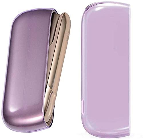 VTAMIN JBTEC Schutzhülle für Philip Morris IQOS 3.0 / IQOS 3.0 Duo - Case Zubehör Fallabdeckungsschale E-Zigarettenabdeckung Aufbewahrungstasche TPU-Gehäuse Rosa Transparent