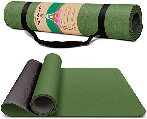 Yoga Mat Exercise Fitness Mat High Density Non Slip Workout Ma for Yoga Pilates Exercises Anti product image