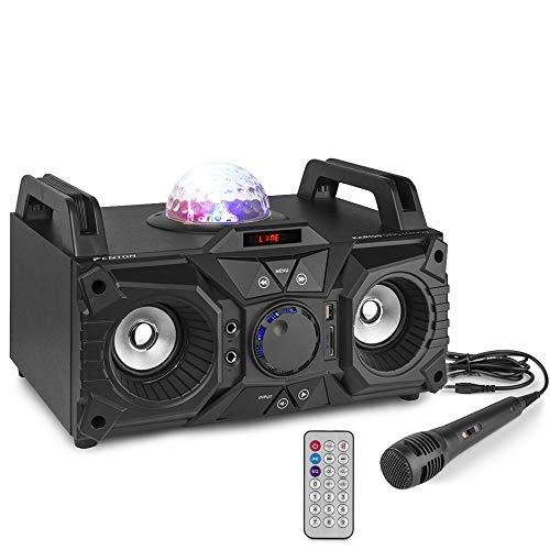 Fenton KAR100 Sono 100 Watts, Batterie intégrée, Lecteur USB/SD/Bluetooth et entrée AUX, Jelly...