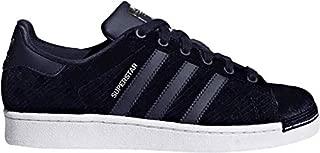 adidas Originals Women's Superstar Fashion Velvet Sneakers B41511,Size 6