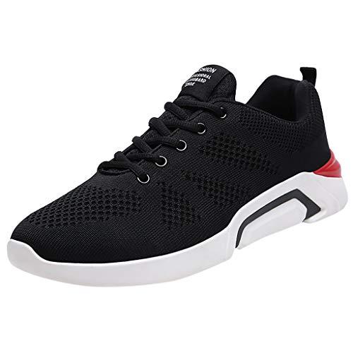 Azruma Herren Turnschuhe Mode Freizeitschuhe Sportschuhe Laufschuhe Atmungsaktiv Leichte Gym Fitness Sneaker Dicker Boden rutschfest Schuhe Stoßdämpfung Mesh Schuhe