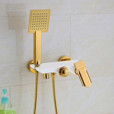 galvanoplástica Retro Grifo pared dos mango Termostato Mezclador ducha grifo latón envejecido calientes y frías ducha bañera con mano ducha