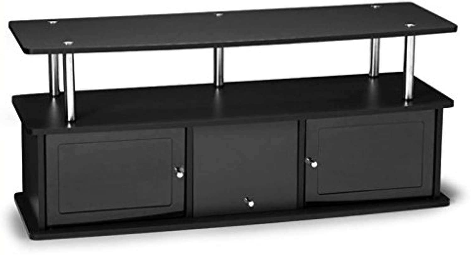 Pemberly Row 48  3 Cabinet TV Stand in Black
