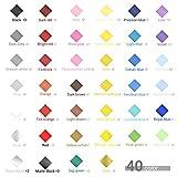 12 fogli di trasferimento Fogli in vinile 96 set Ohuhu 40 colori 30x30 cm fogli adesivi in vinile 84 set auto decorazioni per la casa per feste