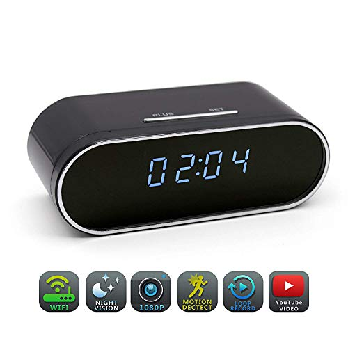 HOSUKU Hidden Spy Camera Clock