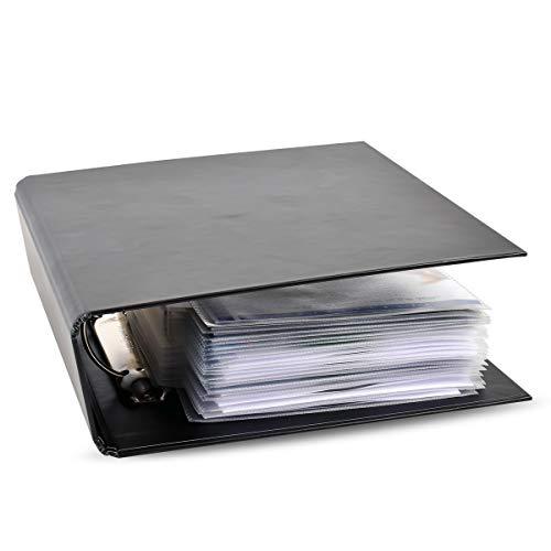 3L DVD Ordner - Ringordner für DVD-Filme Aufbewahrung - Praktisches Aufbewahrungssystem sowie Archivierung - Sammelmappe Schwarz - 10284