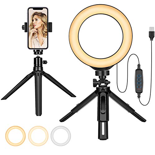 Make-up Ring Licht Beauty Selfie Fotolicht Kit mit Ständer Super Bright LED Lampe für Fotografie YouTube Videos Streaming Instagram