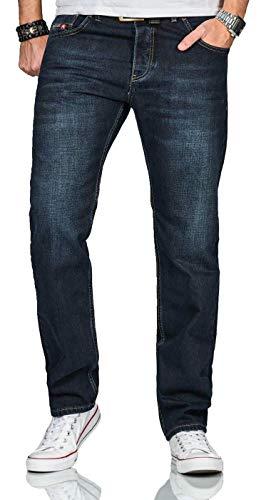 A. Salvarini Beppo Designer Herren Jeans Hose Basic Jeanshose Comfort Fit AS-252 [AS-252-Dunkelblau-W44-L30]