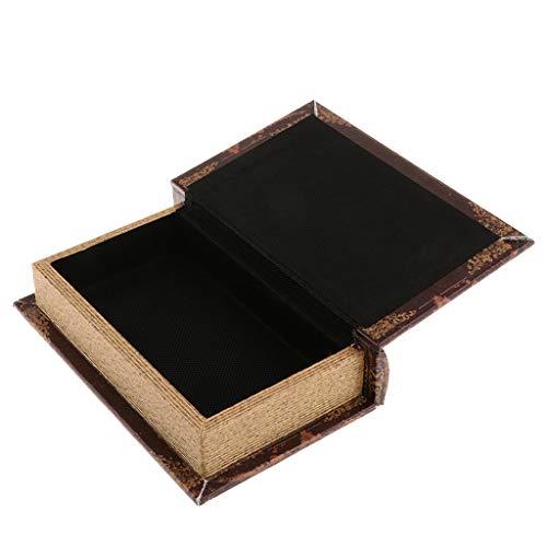 B Blesiya Buchschatulle Buchattrappe Holzkasten Aufbewahrungsbox Sammelkasten Schmuckkasten, Auswahl - Brown_A