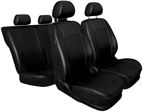 Schwarz Kunsleder Sitzbezüge Komplettset Sitzbezug für Auto Sitzschoner Set Schonbezüge Autositz Autositzbezüge Sitzauflagen Sitzschutz Comfort
