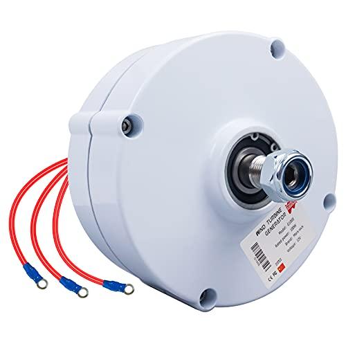 Marsrock 600r/m 100W 12V or 24V Permanent Magnet Generator AC Alternator for Vertical or Horizontal Wind Turbine 100W Wind Generator (24V)