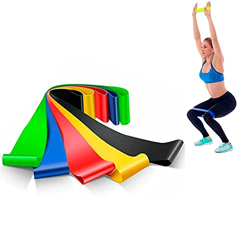 Kit 5 Mini Band Faixas Elasticas Exercicios em Casa para Academia Yoga Pilates Ginástica
