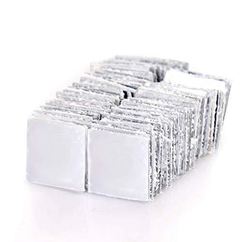 GAOHOU 100pcs Specchio Adesivo da parete per piastrelle en cerámica 3D Decalcomania cuadrado Adesivo per bagno Cucina Adesivo per scale