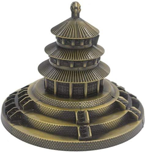 JLXQL Coleccionables Decorativos Modelo de Parque de Metal Figurilla Arquitectura de la Arquitectura Decoración de la Oficina en el hogar