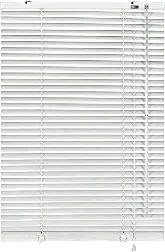 havalime Gardinia Jalousie Weiß, Sicht-, Licht- und Blendschutz, Wand- und Deckenmontage, Alle Montage-Teile inklusive, PVC-Jalousien (120 x 160 cm)