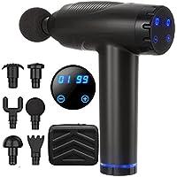 LONSUN 20-Speed Deep Tissue Percussion Muscle Massager Gun (Black)