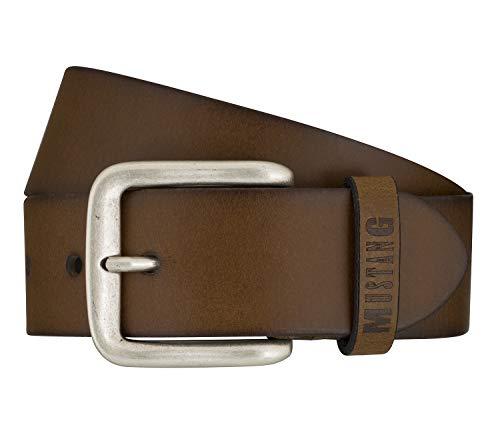 Mustang Gürtel Herrengürtel Ledergürtel Jeansgürtel Braun 7594, Farbe:Braun, Länge:115