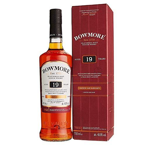Bowmore 19 Jahre Single Malt Scotch Whisky (1 x 0.7 l) - Gereift In Französischen Barriquefässern -   Exklusiv auf Amazon