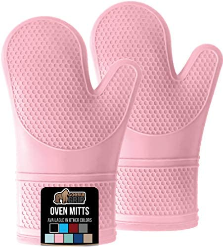 Gorilla Grip Premium Silicone Slip Resistant Oven Mitt Set Soft Flexible Oven Gloves Heat Resistant product image