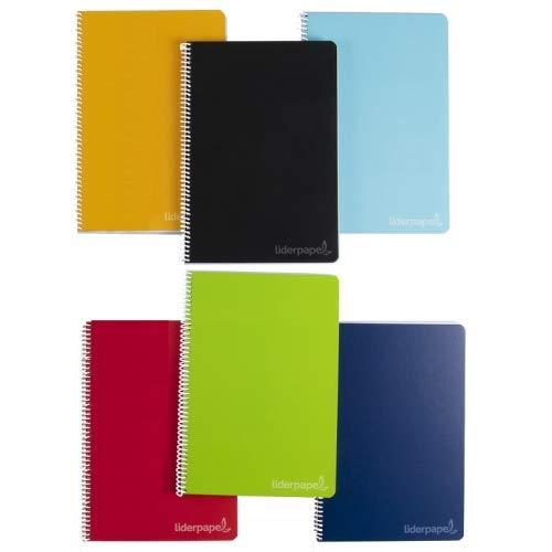Cuaderno espiral liderpapel folio witty tapa dura 80h 75gr rayado n 46 colores surtidos. (10 Unidades)
