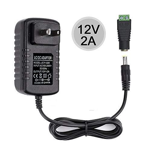 ALITOVE AC 100-240V to DC 12V 10A Power Supply Adapter Converter Transformer Charger 12 Volt 10 Amp 120W with 5.5x2.1mm DC Output Jack for 5050 3528 LED Strip Light CCTV Cameras 3D Printer