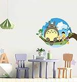 Pqzqmq My Neighbor Totoro Cartoon Wall Decal Stickers for Kids Room My Neighbor Totoro Wall Decor