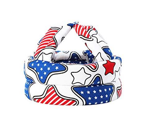 Casco de Bebé Protector de Cabeza Infantil Sombrero de Protección para Niños Casco de Seguridad Ajustable de Algodón