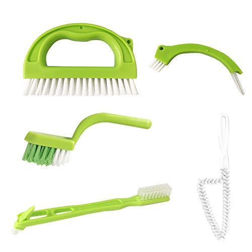 Fugenbürste für Bad Küchen und Haushalt - Reinigt Effektiv Fugenfliesen und entfernt Schimmel Oberflächlich, 5 Brush Included