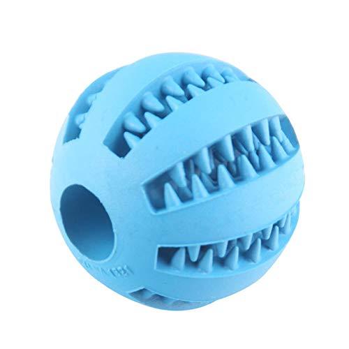 dingdang huisdier molar speelgoed behandelen bal rubber hond molar speelgoed bal molar bal bijten schone tanden lekken voedsel hond molar kauwen bal, Blauw
