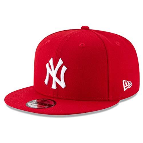 New Era Mens New York Yankees Scarlet Red 9Fifty Adjustable Snapback 950 Cap