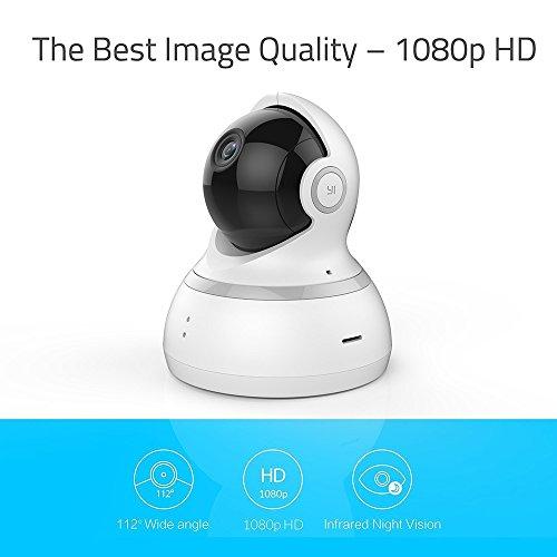 YI Dome Überwachungskamera- IP Kamera Full HD 1080p, Surveillance Home Camera PTZ Pan / Tilt / Zoom, 2 Way Audio, Bewegungserkennung, Nachtsicht, Wifi - Weiß - 2