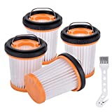 Techypro 4 Pack Replacement Fabric Vacuum Filter for Shark ION W1 S87 Cordless Handheld Va...