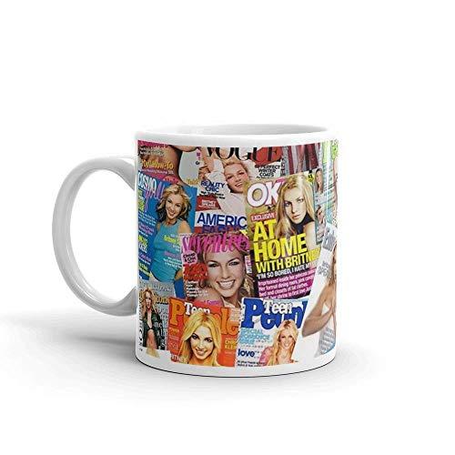Taza Britney Spears de cerámica blanca de 11 onzas ^ Q3W