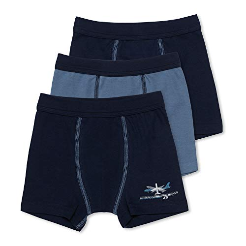 Sweety 3er Pack Retro Boxer-Shorts Gr. 152 I Jungen Unterhosen aus 100% Baumwolle mit Weichbund I Hochwertige Unterhosen Kinder I Unterwäsche Jungen I Marineblau