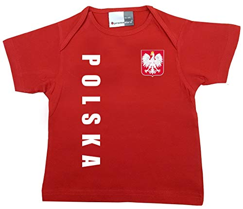 aprom Polen Polska Baby T-Shirt - Trikot - WM EM No.1 R POL (68/74)