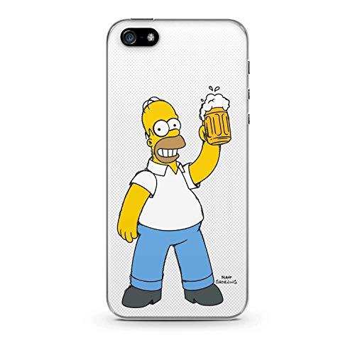 Finoo Homer Serie Hardcase Simpsons iPhone 5/5S/Se - Birra Amore, iPhone 5 / 5S / SE