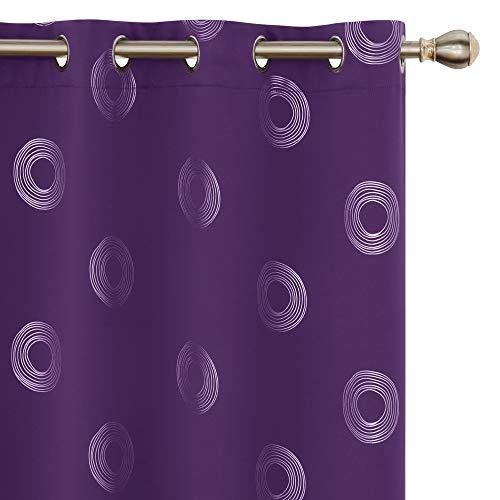 Amazon Brand – Umi Cortinas Salón Habitacion Opacas Modernas Térmicas Aislante Decorativas con Ojales 2 Piezas 140x229cm Púrpura Oscuro